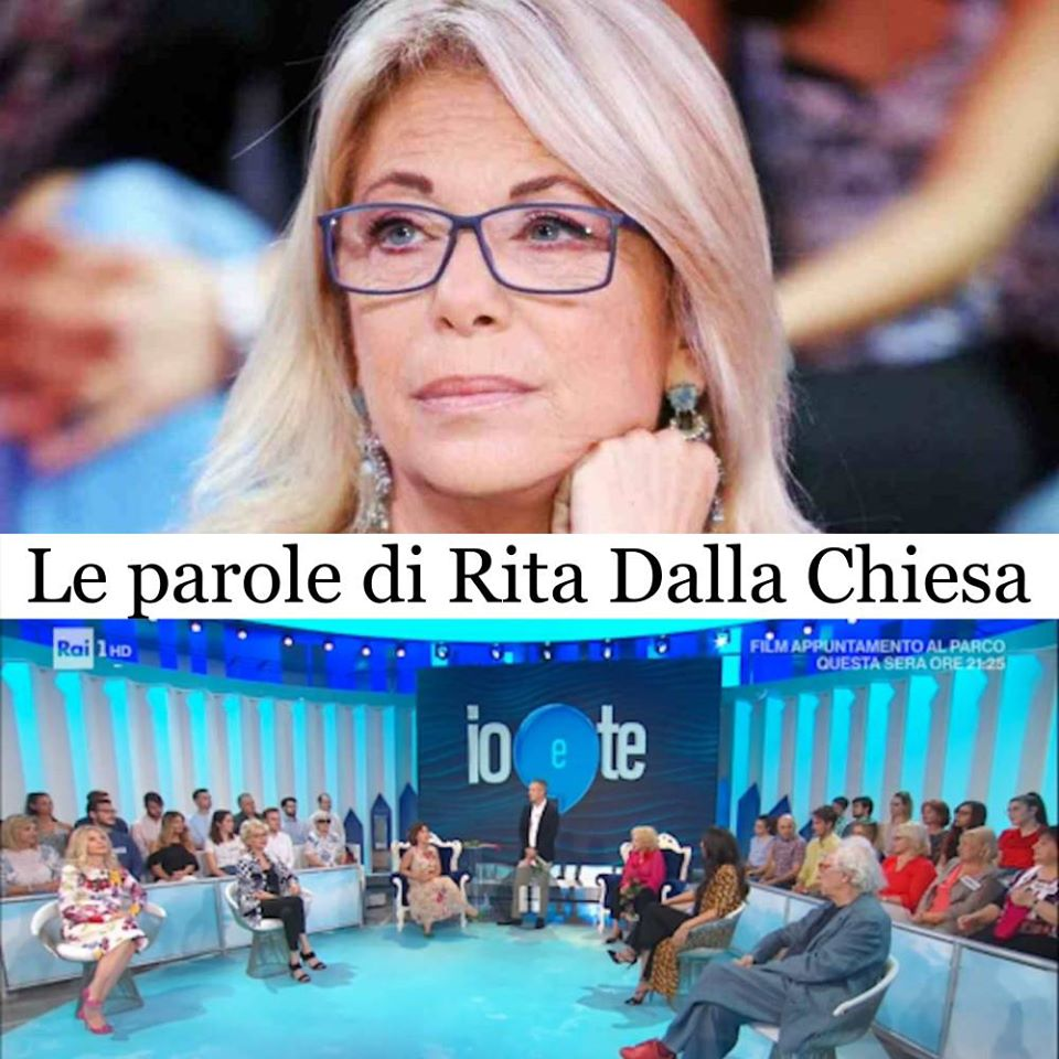 Io e Te: Rita Dalla Chiesa parla del movimento Metoo